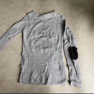 ザラ(ZARA)のZARA knit  グレーニットトップス Sサイズ(カットソー(長袖/七分))