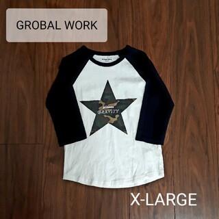 GLOBAL WORK - 美品【GROBAL WORK】キッズ 七分丈 ラグランTシャツ X-LARGE