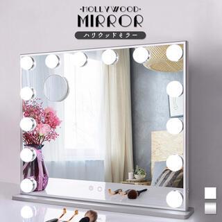 ミラー 鏡 ハリウッドミラー 卓上 卓上ミラー 卓上鏡 LEDライト ライト付き(卓上ミラー)
