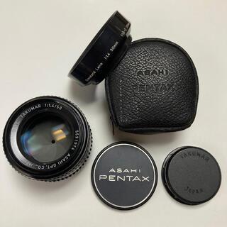 ペンタックス(PENTAX)の良〜美品 最高峰レンズ SMC TAKUMAR 50mm F1.4 付属多数(レンズ(単焦点))