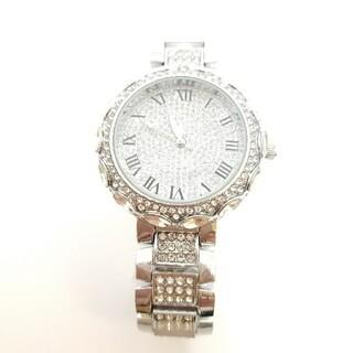 【春スプリングセール】レディース腕時計!シルバー!ゴージャス