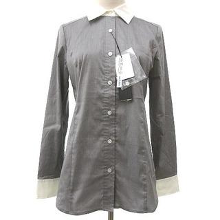 BOSCH - BOSCH クレリックシャツ 長袖 ストレッチ 胸ポケット 38 グレー