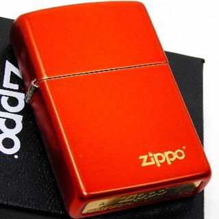 ジッポー(ZIPPO)の送料無料☆zippo☆スパイシーレッド☆zippoロゴゴールド☆ジッポ(タバコグッズ)