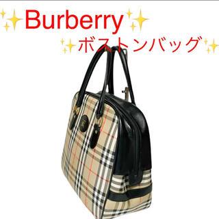 バーバリー(BURBERRY)のBurberry バーバリー ボストンバックノバチェック キャンバス レザー(ボストンバッグ)
