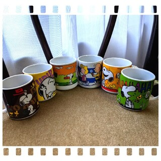 スヌーピー(SNOOPY)のピーナツ カップ 6個セット(グラス/カップ)