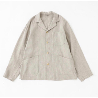 COMOLI - AURALEE COTTON WOOL DOUBLE CLOTH BLOUZON