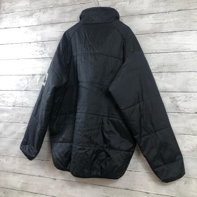 XLARGE(エクストララージ)のX-LARGE エクストララージ ブラックダウンジャケット 袖口デカワッペンロゴ メンズのジャケット/アウター(ダウンジャケット)の商品写真
