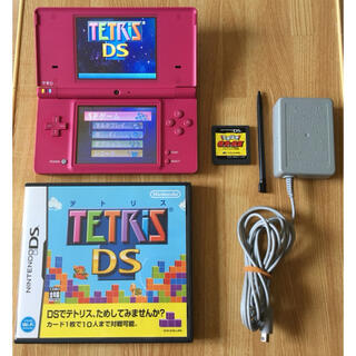 ニンテンドーDS(ニンテンドーDS)の完動品 DSi本体 ニンテンドーDS  充電器 ソフト2本 DS本体 テトリス(携帯用ゲーム機本体)