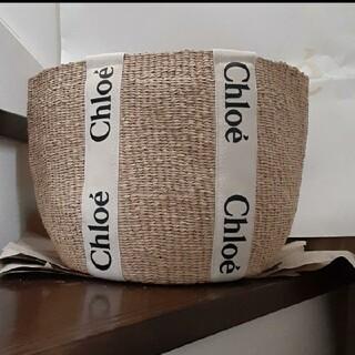 クロエ(Chloe)のラスト一点‼️夏にぴったり🌞Chloe woodyラージかごバッグ(かごバッグ/ストローバッグ)