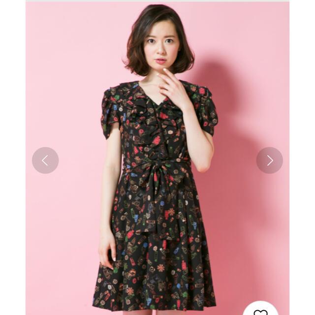 DOLLY GIRL BY ANNA SUI(ドーリーガールバイアナスイ)のドーリーガールバイアナスイ カプリパフュームプリントワンピース レディースのワンピース(ミニワンピース)の商品写真