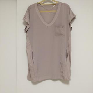 ジーユー(GU)のGU ピンクベージュシャツ(シャツ/ブラウス(半袖/袖なし))