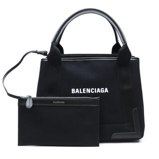 Balenciaga - 新品 バレンシアガ ネイビーカバ S ブラック トートバッグ キャンバス バッグ