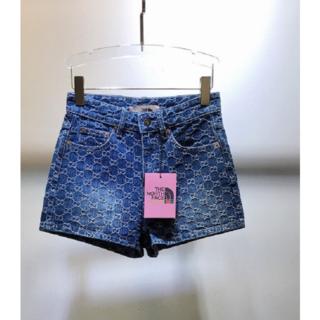 グッチ(Gucci)のGucci×TheNorthFaceコラボ GGジャカール デニムショートパンツ(ショートパンツ)