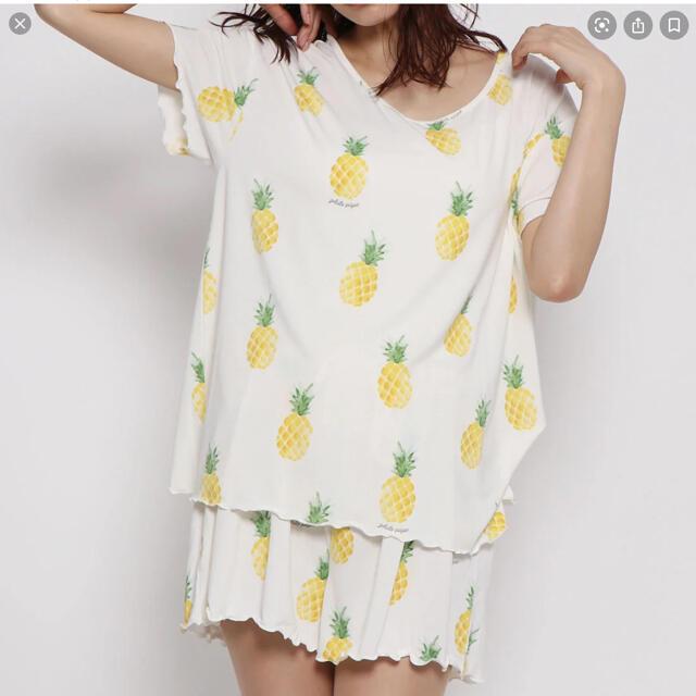 gelato pique(ジェラートピケ)のgelato pique サマーTシャツフルーツ 上下セット レディースのルームウェア/パジャマ(ルームウェア)の商品写真