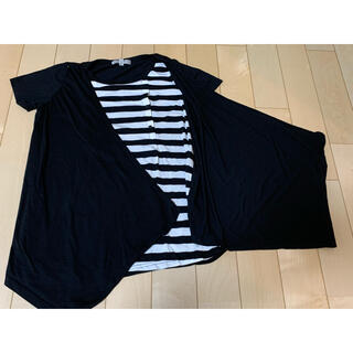 ニシマツヤ(西松屋)の授乳口スナップあり 重ね着風Tシャツ(マタニティトップス)