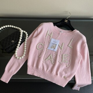CHANEL - 【なピンク♡パールCHANEL♪】シャネル セーター
