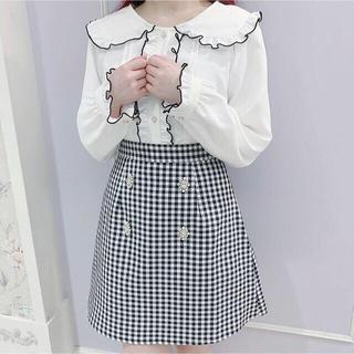 evelyn - evelyn ビジューボタン台形スカート