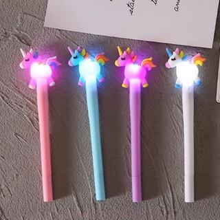 未使用☆ ゆめかわ ユニコーン 光るペン 4本セット