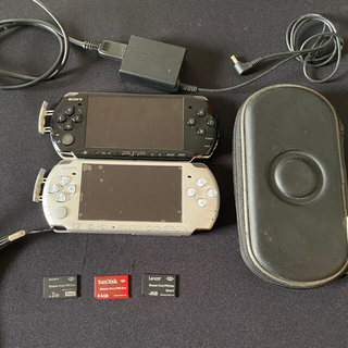 プレイステーションポータブル(PlayStation Portable)のPSP×2(3000)ソフト11本 セット品✨【価格交渉有り】(携帯用ゲーム機本体)
