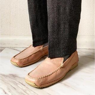 クラークス(Clarks)のvintage 90s サーモンピンク レトロ レザー デッキシューズ 靴(スリッポン/モカシン)