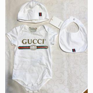 Gucci - 【未使用☆新品】グッチベビーGUCCI Baby 帽子 スタイ ベビ