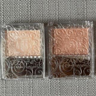 セザンヌケショウヒン(CEZANNE(セザンヌ化粧品))の2個 セザンヌ パールグロウハイライト 01シャンパンベージュ 02ロゼベージュ(フェイスパウダー)