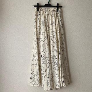 グラフィック花柄ロングスカート coca