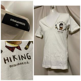 定価27500円 Dsquared2 ディープVネックTシャツ 17AW