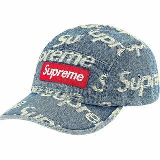 シュプリーム(Supreme)のSupreme Frayed Logos Denim Camp Cap 青(キャップ)