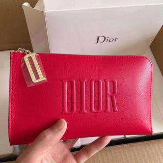 Dior - ディオール Dior ノベルティポーチレッド 箱付き