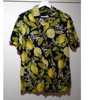 エイチアンドエム(H&M)のH&M 半袖シャツ ネイビー S レモン(シャツ)