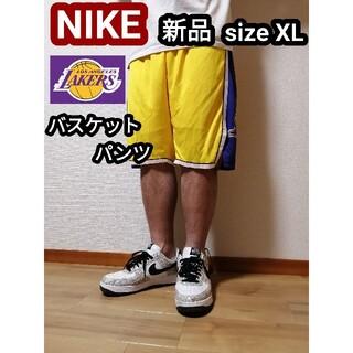 ナイキ(NIKE)の新品 NIKE ナイキ ロサンゼルスレイカーズ バスパン ハーフパンツ XL(バスケットボール)