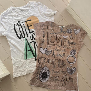オールドネイビー(Old Navy)のレディース Tシャツ 2枚セット(Tシャツ(半袖/袖なし))