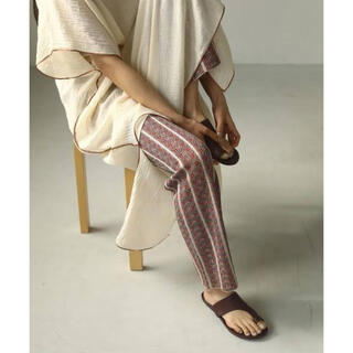 TODAYFUL - ジャガードニットレギンス Jacquard Knit Leggings RED
