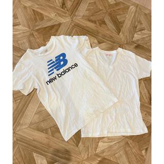 ニューバランス(New Balance)のTシャツ ニューバランス  ヘインズ 2枚セット 白Tシャツ(Tシャツ/カットソー(半袖/袖なし))
