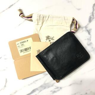 IL BISONTE - 新品 イルビゾンテ 財布 マネークリップ 二つ折り ブラック カードケース 札入