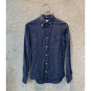 インディヴィジュアライズドシャツ(INDIVIDUALIZED SHIRTS)のINDIVIDUALIZED SHIRTS リネンボタンダウンシャツ(シャツ/ブラウス(長袖/七分))