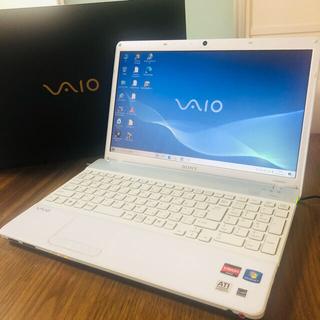 バイオ(VAIO)のVAIO ホワイト×シルバー SONY カメラ付きノートパソコン 15.5インチ(ノートPC)