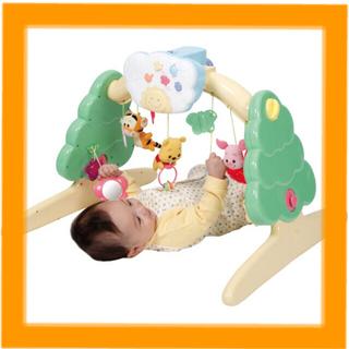クマノプーサン(くまのプーさん)のくまのプーさん 6wayジムにへんしんメリー 新生児 赤ちゃん ディズニー(オルゴールメリー/モービル)