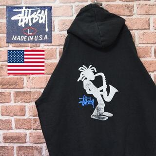 STUSSY - 《ステューシー》90s 紺タグ USA製 シャドーマン ビッグサイズ ブラック