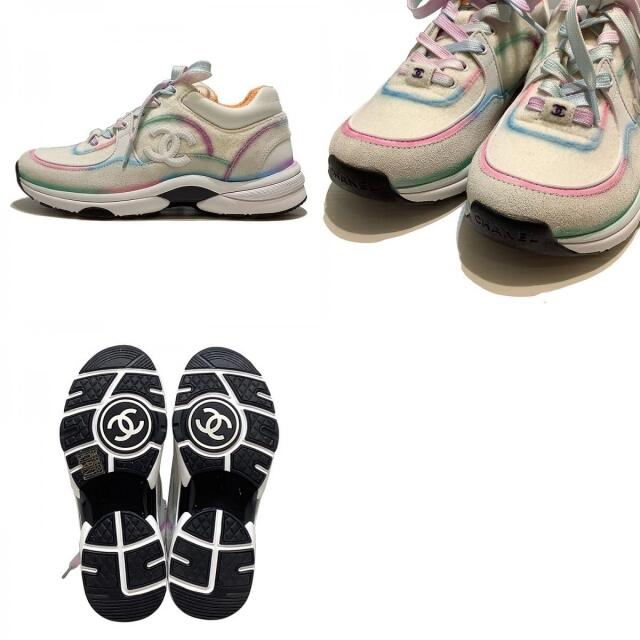 CHANEL(シャネル)のシャネル CHANEL ローカットスニーカー ココマーク/パイル スニ【中古】 レディースの靴/シューズ(スニーカー)の商品写真