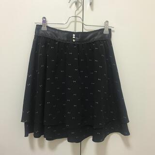 ウィルセレクション(WILLSELECTION)のWILLSELECTION リボン柄スカート (ひざ丈スカート)