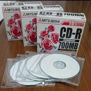 ミツビシ(三菱)の三菱 CD-R 700MB 34枚(PC周辺機器)