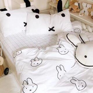 ミッフィー 寝具シングル3点セット 掛け布団カバー 枕カバー シーツセット