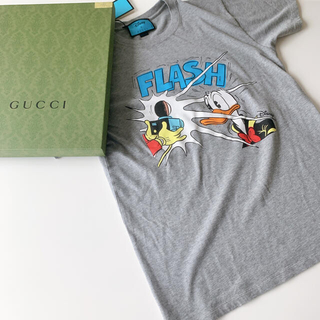 Gucci - タグ付き グッチ ドナルドダック プリント Tシャツ グレー