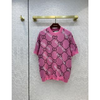 Gucci - GUCCI グッチ GG ショートスリーブ セーター
