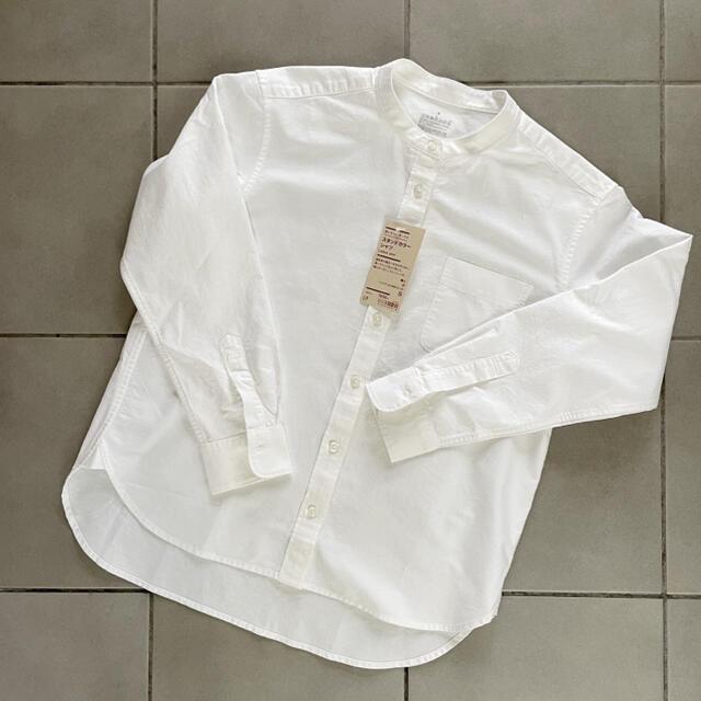 MUJI (無印良品)(ムジルシリョウヒン)の【みるく様専用】MUJI スタンドカラーシャツ Sサイズ レディースのトップス(シャツ/ブラウス(長袖/七分))の商品写真