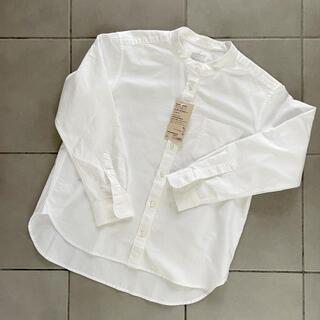 MUJI (無印良品) - MUJI スタンドカラーシャツ Sサイズ