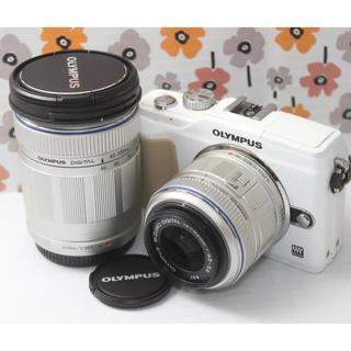 オリンパス(OLYMPUS)の❤️Wi-Fi❤️オリンパス PL2 ミラーレスカメラ【ダブルズームキット】(ミラーレス一眼)