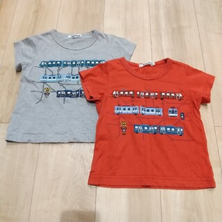 familiar - familiar 電車Tシャツ 2枚セット 男の子 100